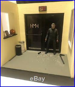 1/12 Scale Halloween 2 Custom Diorama For Ultimate Michael Myers NECA Figure