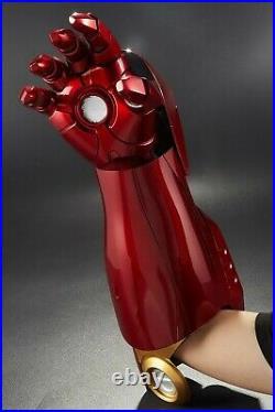 1/1 Scale KB20056 Iron Man Diecast Mark 7 MK VII Wearable Left Arm & Palm