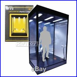 1/6 Fits 2 Sixth Scale Figure Clear Display Case Box USB LED Hot Toys Sideshow