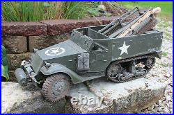 1/6 scale Custom Hasbro WWII US M3 Half Track Vehicle with Custom US Figure