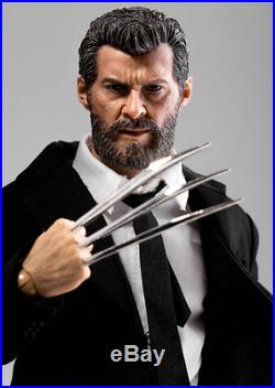 Custom 1/6 scale Logan Wolverine full complete figure black suit set with Claws