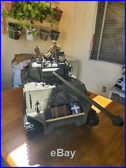 Custom WW2 Sherman FireflyTank 1/6 Scale Vehicle with Extras British Fiberglass