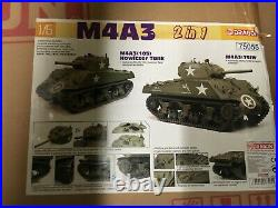 Dragon 1/6 Scale 12 WWII US Sherman M4A3 105mm Howitzer Tank 2 in 1 Kit 75055