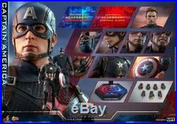 Hot Toys 1/6th Scale MMS536 Avengers Endgame Captain America 12 Action Figures