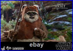 Hot Toys Star Wars Wicket Ewok 1/6 Scale Figure Endor ROTJ Return of the Jedi