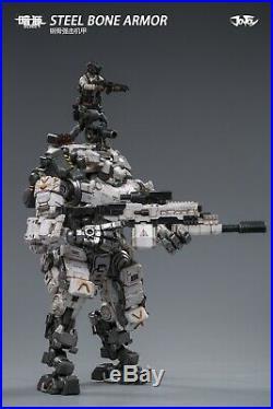 (In Stock@5zeroToys) JOYTOY 125 Scale Steel bone Armor (Snow) With Pilot Mecha