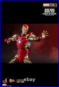 Iron Man Mark 46 Concept Art Marvel Movie Masterpiece Diecast 1/6 Scale Hot Toys