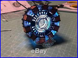 Iron Man Tony Stark 1/1 Scale Mark 1 Arc Reactor DIY Set + Diecast Base