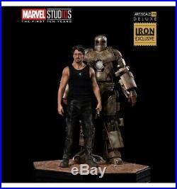 Iron Studios Marvel Iron Man Tony Stark and Mark I BDS Art Scale 1/10 Del