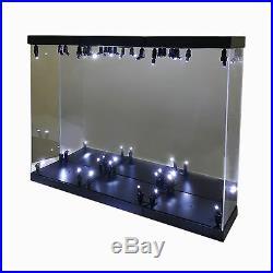MB-3 Acrylic Display Case LED Light Box for three 12 1/6 Scale IRON MAN Figure