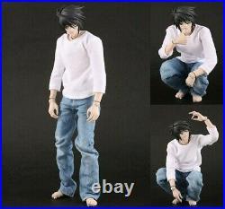 Medicom RAH 1/6 Scale Death Note L Lawliet Action Figure Kira Light Yagami NIB