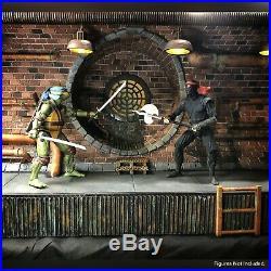 NECA Teenage Mutant Ninja Turtles Sewer 110 Scale Action Figure Diorama TMNT