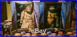 Neca Tmnt 1/4 Scale Complete Set Of 7 Figures Shredder Raph Don Mike Leo Foot