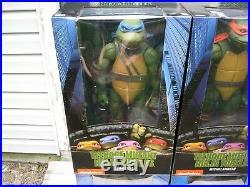 Neca Tmnt Ninja Turtles 1990 Movie 18 Inch 1/4 Scale 4 Figure Set Raph Etc Nib