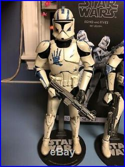 Sideshow Star Wars Clone Troopers Echo and Fives 1/6 Scale US seller