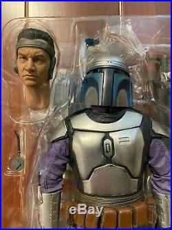Star Wars Sideshow Collectibles Attack of the Clones Jango Fett 16 Scale Figure
