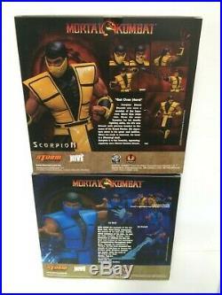 Storm Collectibles 1/12 Scale Mortal Kombat Scorpion + Subzero Action Figure SET