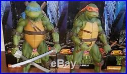 Teenage Mutant Ninja Turtles NECA TMNT Movie 1990 18 1/4 Scale Set of 4 + Baby