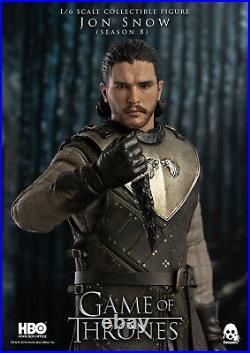 ThreeZero NEW Jon Snow (Season 8) Game of Thrones 16 Scale Action Figure